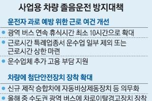 """당·정 """"광역버스 운전사 연속휴식 최소 10시간으로"""""""