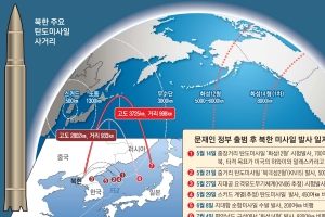 [北, ICBM급 2차 발사] 北, 사거리 1만㎞급으로… 美본토 사정권
