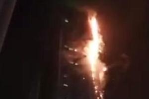 [영상] 두바이 86층 건물 '토치 타워'에 대형 화재