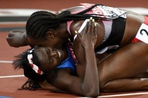 [포토] '100m 1위' 토리 보위, 주체할 수 없는 기쁨