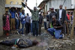 케냐 경찰 '대선 잠정 개표결과 반발' 시민에게 총격