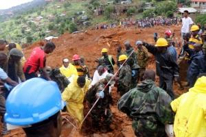 시에라리온 산사태, 사망·실종 1000여명…아프리카 최악의 참사