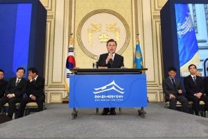 [서울포토] 질문에 답하는 문재인 대통령