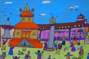 네팔 아이들이 그린 '히말라야의 꿈'