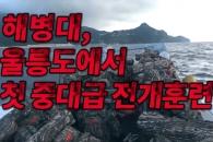 [영상] 해병대, 울릉도서 첫 중대급 전개 훈련