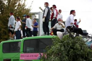 재개발 맞선 버스업체 송파상운, 철거용역과 충돌···기사들 8명 부상