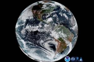 [우주를 보다] 태양 가린 달… 북미 대륙에 검은 그림자
