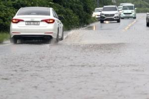 제주 폭우로 고립 침수피해 속출…시간당 70㎜ 이상도