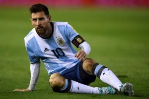 [포토] '메시, 오늘도 골 침묵'… 아르헨, 베네수엘라와 1-1 비겨