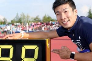 기류 요시히데 100m 9초98, 순수 아시아인 최고 100분의 1 당겨