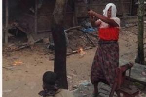 '히잡 쓴 힌두교도가 로힝야족?' 딱걸린 방화조작 사진
