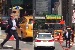 [해외연예] 뉴욕 도로서 교통정리하는 해리슨 포드