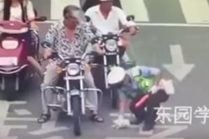 도로 뛰어든 새끼 고양이 구한 경찰관