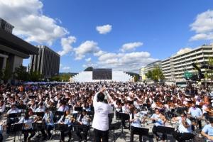 광화문광장 '1000인의 오케스트라'·'재활용 악기 교향악단' 협연