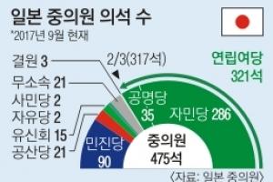 북풍 탄 아베 '총선 승부수'