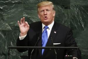 """트럼프, 유엔총회 연설…""""미국·동맹 방어해야한다면 北완전파괴"""""""