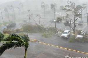 허리케인 '마리아' 푸에르토리코 상륙…섬 전체가 정전