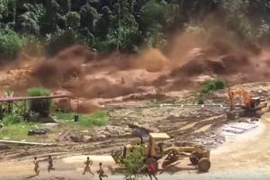 라오스서 댐 붕괴, 긴박했던 대피 순간
