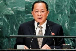 리용호 북한 외무상 유엔 대표부서 기자회견 예정