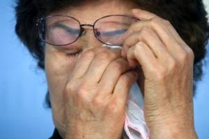 [포토] '눈물만 흐릅니다'…故 이길연 집배원 사망사고 관련 기자회견