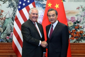 틸러슨 미국 국무장관, 베이징 도착…왕이·양제츠와 회담(종합)