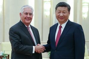시진핑·틸러슨 베이징서 회동…트럼프 방중·북핵 문제 등 논의