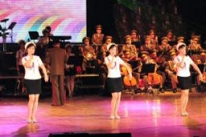 [포토] '북한 걸그룹' 모란봉악단의 공연 무대