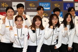 [포토] '금메달이 3개' 월드컵 쇼트트랙 대표팀 귀국