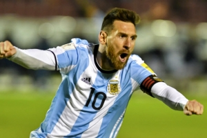 [포토] 메시 해트트릭… 아르헨티나, 극적 월드컵 본선 진출