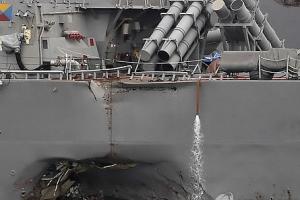 """美해군, 충돌 이지스함 지휘관 2명 파면…""""피할 수 있었다"""""""