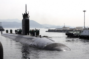 7일 입항한 美핵잠수함 '투싼함', 오늘 진해항 떠나