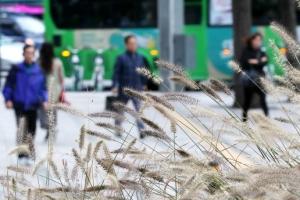 [포토] 쌀쌀해진 출근길