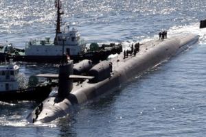 '세계 최대 핵잠수함' 美 미시간호 부산 입항