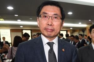 [서울포토] 감사장 나서는 박상기 법무부 장관
