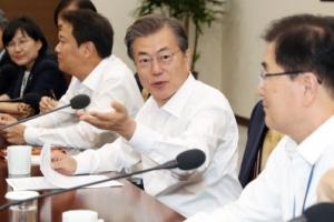 文대통령, 靑수석·보좌관회의 주재…타워크레인 안전대책 논의