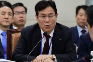[서울포토] 답변하는 이관섭 한수원 사장