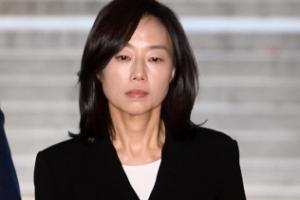 [서울포토] 조윤선 전 장관, '무표정한 얼굴'