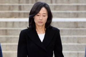 [서울포토] 법정으로 향하는 조윤선 전 장관
