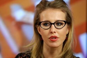 [포토] '러시아의 패리스 힐튼' 미녀 앵커 소브착, 대선 출마 선언