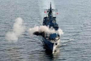 [포토] 서해상 한미 해군 대함사격 훈련