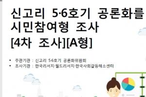 신고리 원전 5,6호기 공론화 설문조사 항목 공개