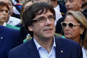[포토] 스페인, 카탈루냐 자치정부 해산 결정…시위 참석한 푸지데몬 수반