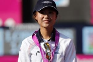 [포토] 양궁 송윤수, 세계선수권 2관왕 '빛나는 금메달'