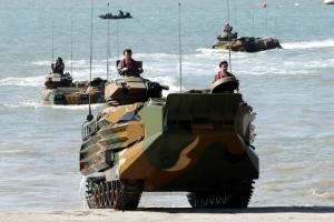 [포토] '바다도 가른다' 해병대 상륙돌격장갑차