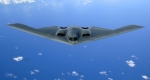 미 B-2폭격기 자위대 사열…