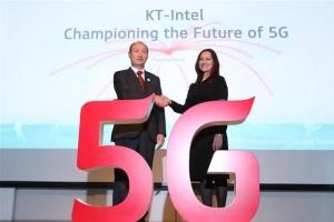 KT·인텔 세계 첫 5G시범서비스 '맞손'