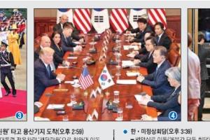 [美대통령 25년 만의 국빈 방문] 文대통령, 한국이 비용 댄 캠프 험프리스서 트럼프 '…