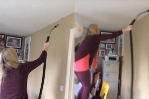 [별별영상] 거미 잡이에 청소기 이용하는 여성