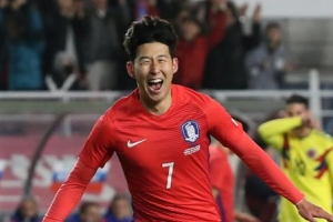 손흥민, 전반 10분 선제골…한국, 콜롬비아에 1-0 리드