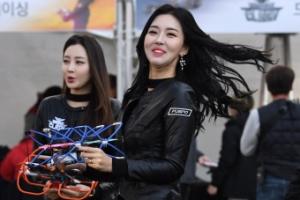 [서울포토] '드론 레이싱 걸 모델'